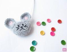 Patrones para Crochet: Cinta Metrica dentro Amigurimi Raton. Tutorial
