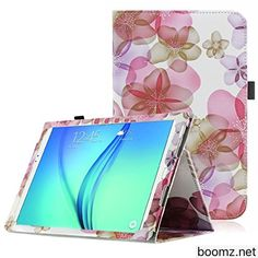 Samsung Galaxy Tab A 9.7 case  OMOTON Classic Folio PU Leather Smart Case Cover for Samsung Galaxy Tab A 9.7-Inch Tablet (with Auto sleep/ wake feature) Lucky Flower