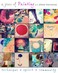 a year of painting is going to be so much fun! 1st tier filled up in one week! spaces still open for 2nd tier. xox