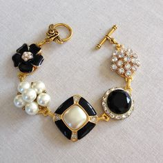 Vintage earring bracelet cluster bracelet by ChicMaddiesBoutique