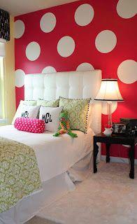 Red Teenage Girl Bedroom Ideas Wall color