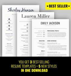 Resume suggestions EXCLUSIVE DEAL! Get 8 resume templates + 8 Matching Cover Letters + 8 Matching Reference Letters in one PACK! P.S. Our product is up-to-date and of top quality and this special offer is for limited time only. (Beware that the price can be increased at any moment!)