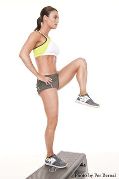 My clients know this move all too well--add a reverse lunge off the step to up the anty!!