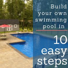 How easy is it to build your own swimming pools? With Royal Swimming Pools, extremely easy! Especially with our FREE technical support! Inground Pool Diy, Diy Pool, Small Backyard Pools, Backyard Ideas, Pool Ideas, Backyard Projects, Backyard Patio, Patio Ideas, Building A Swimming Pool