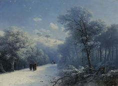 Ivan Konstantinovich Aivazovsky (1817 – 1900) The winter landscape