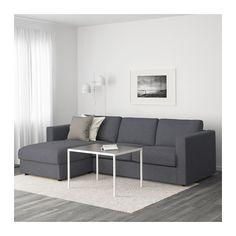 VIMLE Sofa, with chaise, Gunnared medium gray with chaise/Gunnared medium gray