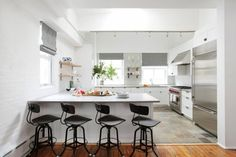 Have a simple, beautiful kitchen with no upper cabinets