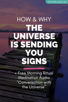"The Universe is sending you signs, to guide you on your life journey. If you tune in, you'll begin to notice these subtle messages. Click through for a coaching vlog on how and why the Universe is guiding you + download your free morning ritual meditation audio ""A Powerful Conversation with the Universe"" https://www.pinchmeliving.com/how-the-universe-is-sending-you-signs/ via @pinchmeliving"
