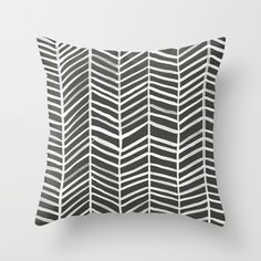 Herringbone – Black & White Throw Pillow by Cat Coquillette. Worldwide shipping available at Society6.com. Just one of millions of high quality products available.