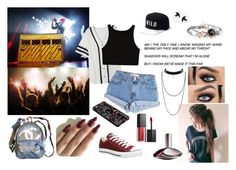 """""""Twenty One Pilots Concert"""" by dancersoul19 ❤ liked on Polyvore featuring Levi's, Kill Brand, Smashbox, Calvin Klein, Chanel and Converse"""