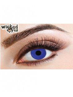 Wicked Eye Electric Blue Cat Eye Contacts, Halloween Contacts, Black Contact Lenses, Blue Flames, Colored Contacts, Black Magic, Electric Blue, Predator, Eye Color