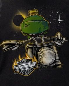 Harley-Davidson Looney Tunes Mens Marvin the Martian Space Alien Black T-Shirt Harley Davidson Posters, Harley Davidson Merchandise, Harley Davidson Tattoos, Harley Davidson Gifts, Harley Davidson Wallpaper, Classic Harley Davidson, Harley Davidson Roadster, Harley Davidson Knucklehead, Looney Tunes Characters