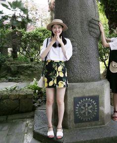 Wear Confidence! 66girls.us Button Accent Lemon Print Skirt DJBN #66girls #66girls_en #육육걸즈 #Daily #WAYWT #NEW #Teen_Fashion #Girls_Fashion #Young_Girls_Fashion #Trendy #Global_Shopping #cclook #okiknit #monsterjeans #kstyle #kfashion #koreanfashion