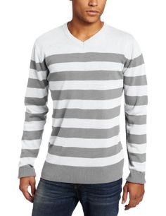 Southpole Men's Striped Pull Over Long Sleeve Sweater $9.00