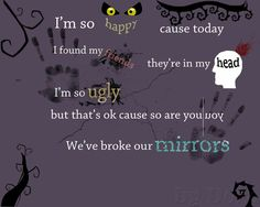 Love this from Lithium Kurt Cobain Quotes, Nirvana Kurt Cobain, Find My Friends, Im Ugly, Broken Mirror, Its Ok, Im In Love, Cool Bands, Song Lyrics