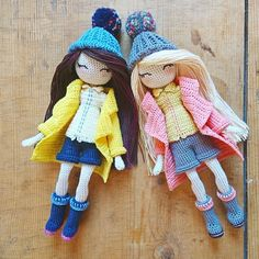 One pattern, 2 very different dolls ! And you, what will your Bridgette look like ?