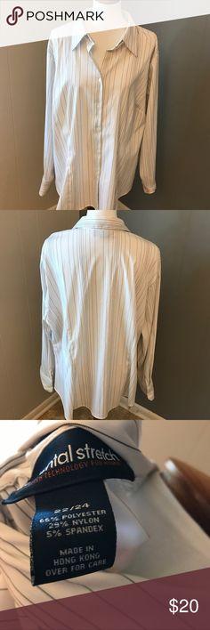 Pinstripe Button Down Lane Bryant Elemental Stretch Pinstripe Button Down Blouse Lane Bryant Tops Button Down Shirts