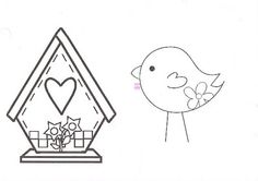 Da janela do coração: Molde do passarinho que vocês me pediram.