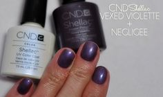Mani Monday: CND Shellac Layering Combos - Vexed Violette and Negligee #beauty #nails #manicures