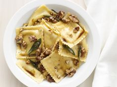 Ravioli With Sage-Walnut Butter #FNMag #myplate #starch #protein