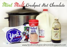 {Mint Malt Crockpot Hot Chocolate} Best Christmas Drink EVER!