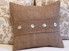 Burlap Accent Pillow Cover by metzinteriors on Etsy, $25.00