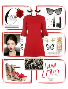 """Red is the new black 🌹"" by amin4ik on Polyvore featuring мода, Par Avion Tea, Dolce&Gabbana, Gucci, Topshop, NARS Cosmetics, Christian Louboutin, Tom Ford, Karl Lagerfeld и Bling Jewelry"