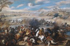 Pandolfo Reschi (circle, c.1640-1696), Two cavalry skirmishes in front of extensive landscapes | Alain.R.Truong