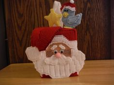 Santa Tissue Box Cover  Plastic Canvas by ShanaysCreation on Etsy, $22.50