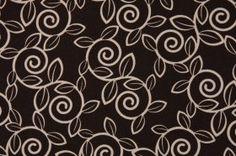 Premier Prints Trellis Drapery Fabric in Chocolate & Natural