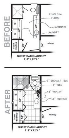 Trendy Bathroom Closet Combo Layout Washer And Dryer Ideas Small Half Bathrooms, Small Tub, Amazing Bathrooms, Small Laundry, Bathroom Small, Bathroom Ideas, Bath Ideas, Small Baths, Shower Ideas