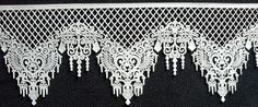 """Gorgeous Pre made Designer Edible Cake Lace (Virginia) 13"""" x 4-1/14"""" Custom Made for you- Completely edible- can be colored, glittered or luster dusted for the most beautiful effect. Add edible diamonds and pearls. Endless possibilities $12.00 per panel -apply with small amount of water- facebook/justeatitjax.com or just.eatit@yahoo.com"""