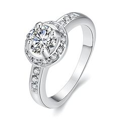 * Penny Deals * - Eternity Love Wedding Bands Women's 18K White/Rose Gold Plated Princess Cut CZ Cubic Zirconia Engagement Rings Best Promise Rings Anniversary Wedding Bands for Lady Girl, White Gold, 7 ** Click image to review more details.