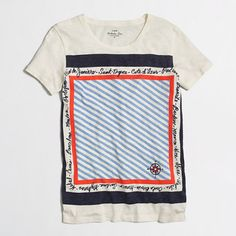 Factory travel scarf collector tee - Knits & Tees - FactoryWomen's New Arrivals - J.Crew Factory