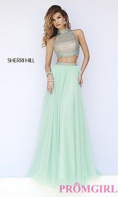 Sherri Hill Floor Length Two Piece Prom Dress at PromGirl.com