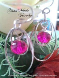 Bisuteria Hecho a Mano -  HadMade Jewelry: Earrings with swarovski beads Pendientes con cuentas swarovski  4.00 https://www.facebook.com/HandMade.HechoaMano