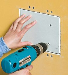 Help and how-to guides for framing and hanging drywall. Includes illustrations and tips on measuring and cutting your materials, taping, joint compounds, sanding, choosing the right drywall tools and more. From DIY Advice. Do It Yourself Furniture, Do It Yourself Projects, Diy Projects To Try, Home Projects, How To Patch Drywall, Drywall Repair, Drywall Installation, Do It Yourself Baby, Home Fix