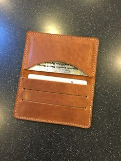 Custom distressed Horween Leather micro wallet. Original design by 922Leather.com