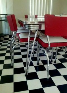 Vintage Retro Laminate Laminex Kitchen Dining Table 8 Seater