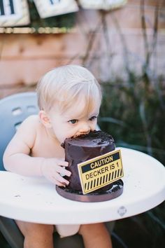 construction themed first birthday party