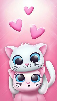New Wallpaper Backgrounds Computer Funny 56 Ideas Wallpaper Gatos, Cute Cat Wallpaper, Kawaii Wallpaper, Pink Wallpaper, Disney Wallpaper, Galaxy Wallpaper, Cartoon Wallpaper, Wallpaper Backgrounds, Iphone Wallpapers