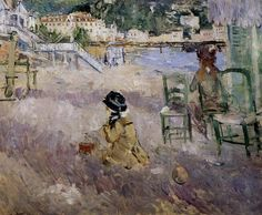 The Beach at Nice – 1882 - Berthe Morisot