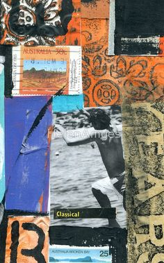 mailart collage art