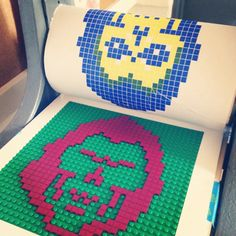 Lego relief prints by graphic designer Chris Ware