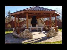 Фото:http://sad.co.ua/derevyannaya-besedka-domik/ Все внимание этой необычной деревянной беседки домик.Сконцентрировано на двух опорных столбах.А точнее:обыч...