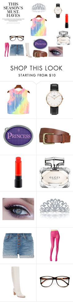 """Colors of the Rainbow 3"" by chrisone ❤ liked on Polyvore featuring Daniel Wellington, Will Leather Goods, H&M, MAC Cosmetics, Gucci, Bling Jewelry, Madewell, Betsey Johnson, Maison Margiela and ZeroUV"