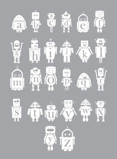 Robot Alphabet Poster by Creative Neesh