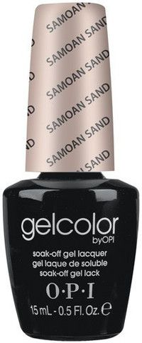 OPI Gelcolor soak off gel polish (released on October of 2011) applies just like traditional nail polish, but gives your like a super shiny finish that lasts up to two weeks. You can just simply apply