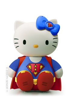 Hello SuperKitty. Superwoman hello kitty