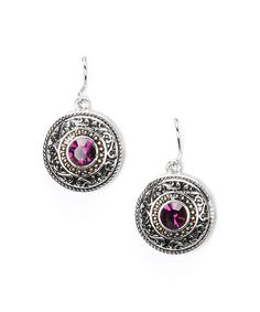 Another great find on Amethyst Medallion Drop Earrings Jewelry Box, Jewelery, Jewelry Necklaces, Pretty Outfits, Pretty Clothes, Girly Things, Girly Stuff, Family Jewels, Crochet Earrings